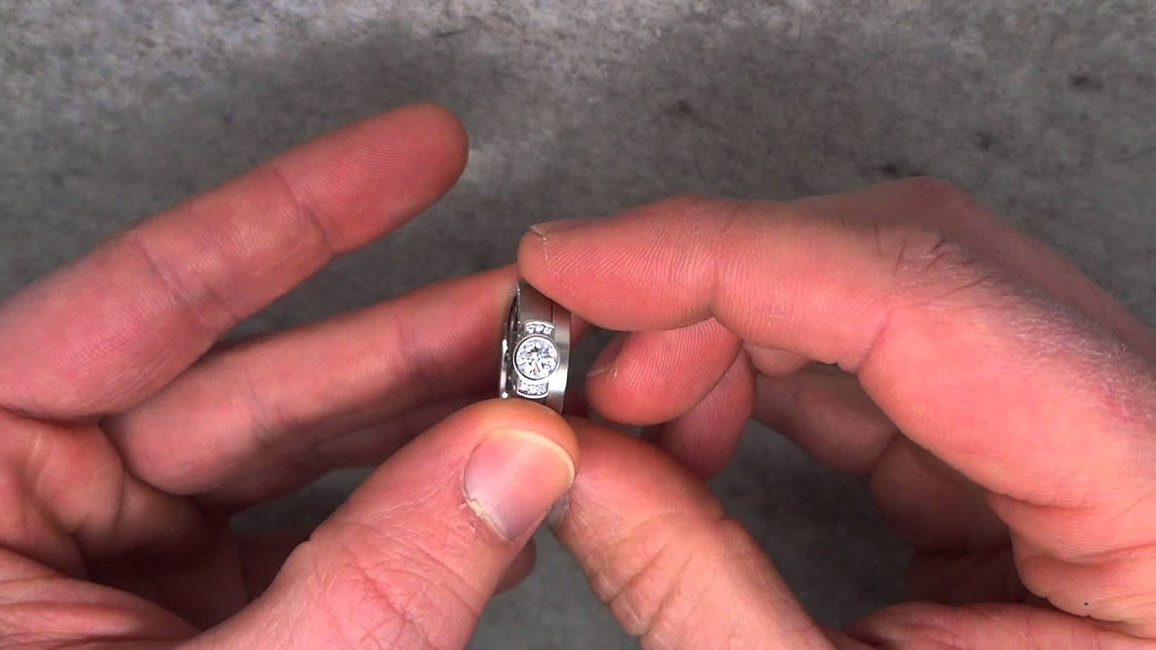 Henrich & Denzel - Platinum & Diamond Flashlight Engagement Ring ...