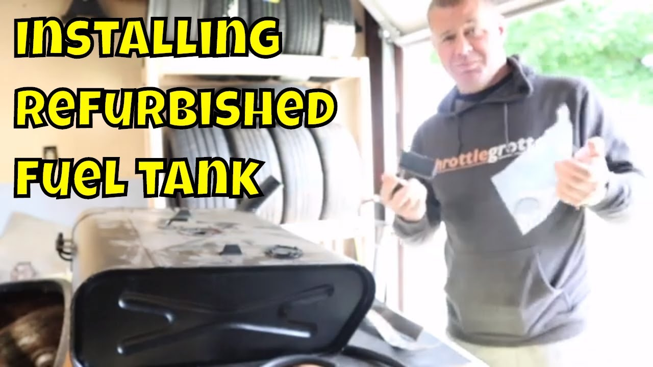 1968 Datsun 2000 roadster - Installing the refreshed datsun fuel tank! Ep.#7