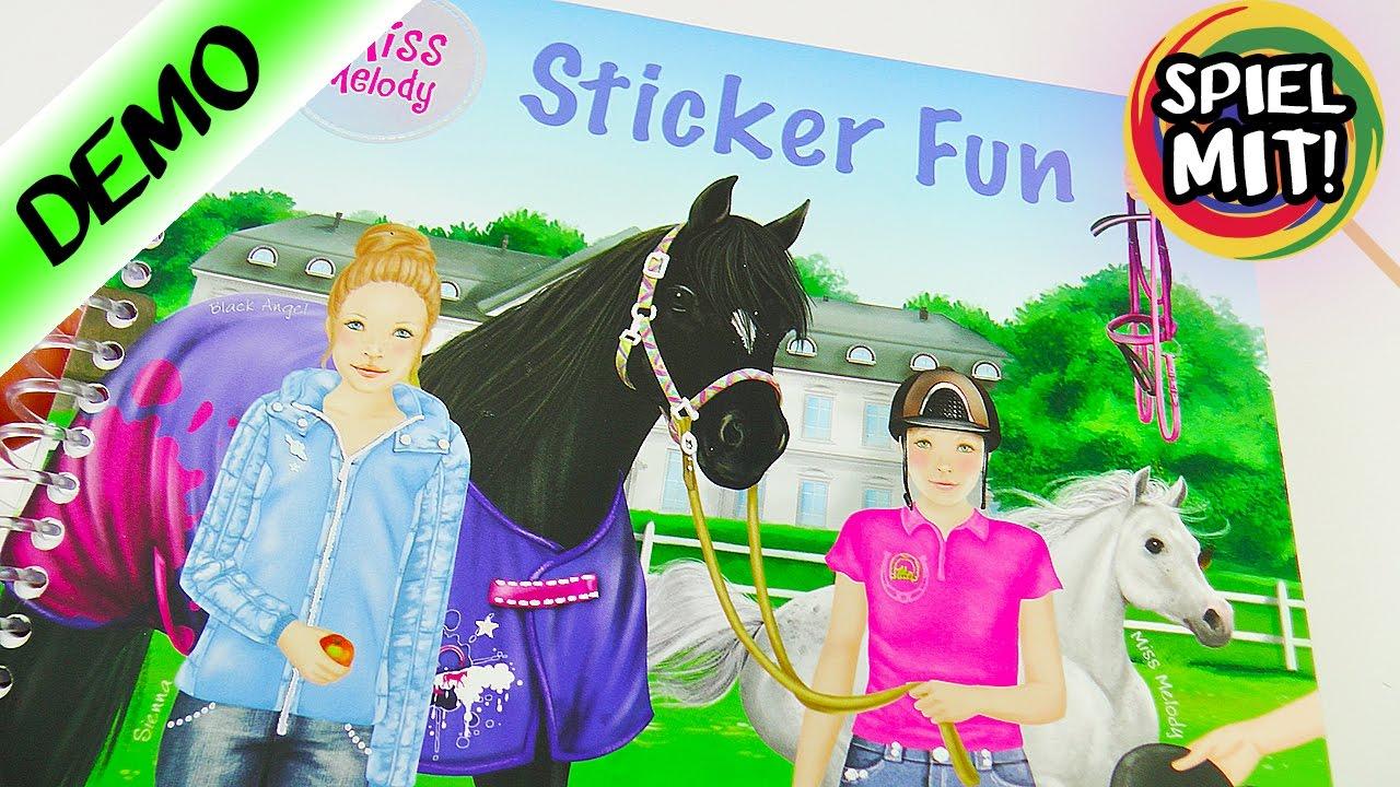 Miss Melody Sticker Fun Heft Mit Tollen Stickern Für Pferde Fans