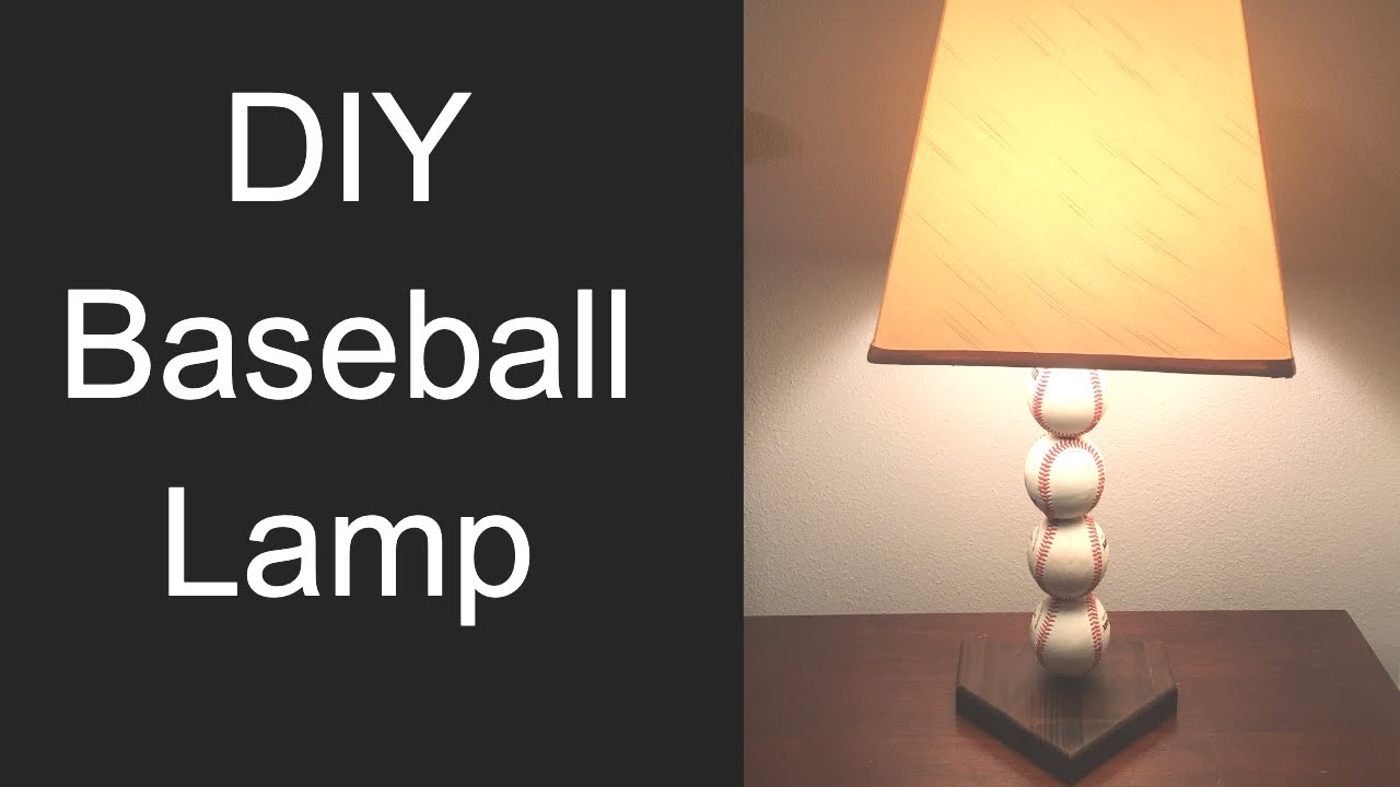 pahjodesigns diy woodworking - Baseball Lamp