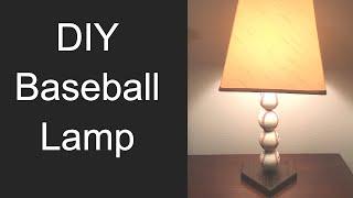 DIY Baseball Lamp // How to Make