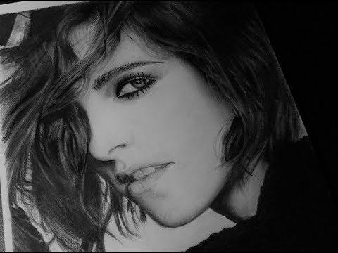 Step by step drawing Kristen Stewart (part 1)