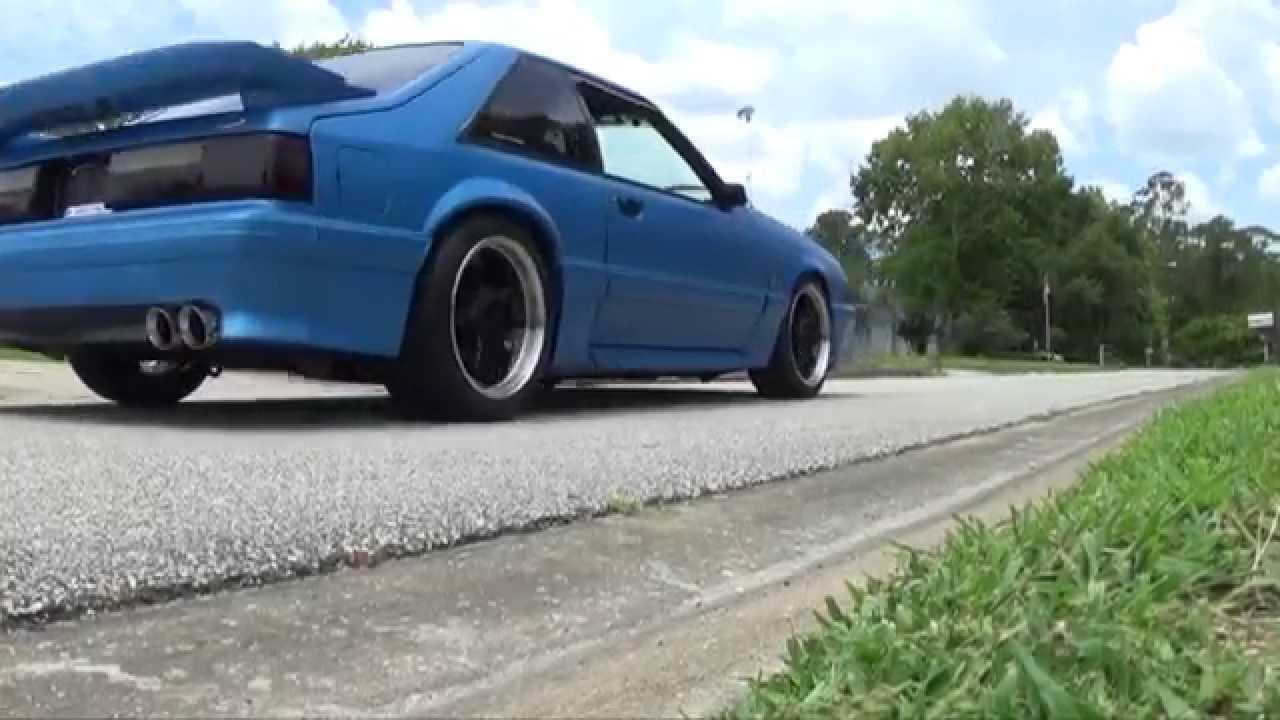 91 Mustang Gt Foxbody 5 0 Custom Exhaust Youtube