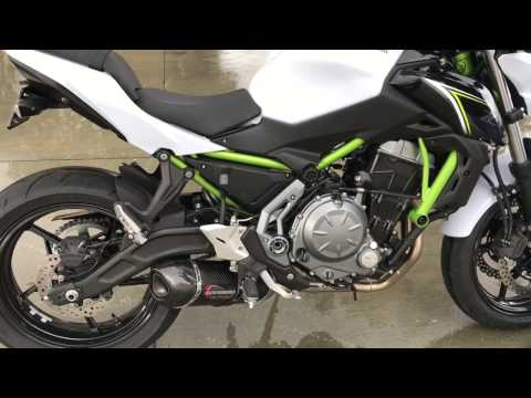 kawasaki z650 and ninja 650 exhaust and fender eliminator kit from