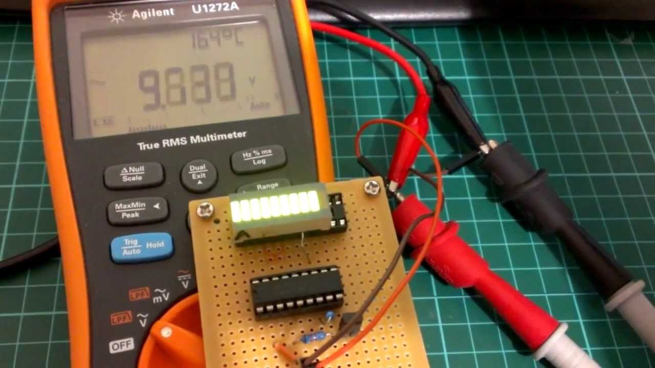 Constructing Voltmeter Monitor Circuit Using Lm3914