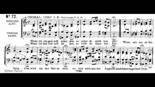 Bach BWV 244-72 Wenn ich einmal soll scheiden