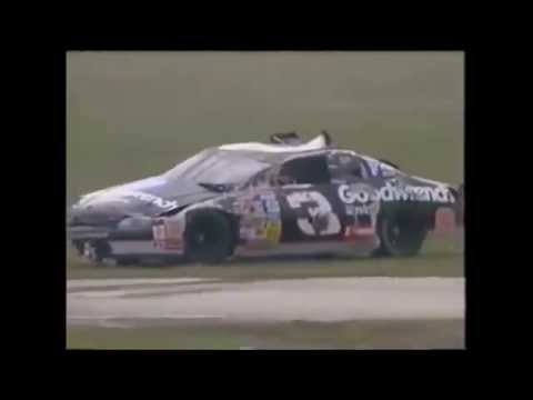 Dale Earnhardt Flips & Wrecks Car Then Gets Back In and Continues Race