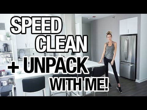 CLEAN WITH ME + UNPACK WITH ME! TRAVEL cleaning routine!