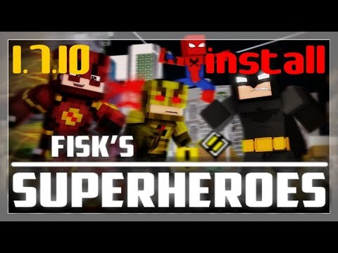FISK'S SUPERHEROES MOD 1.7.10 minecraft - how to download and install Fisk's Superheroes 1.7.10