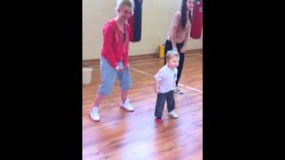 Little Oscar age 3 dancing with ToXics Luci and Nic xxx