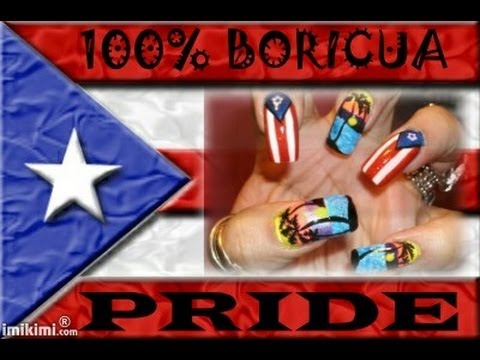 Puerto rican flag sunset nail art design tutorial youtube puerto rican flag sunset nail art design tutorial prinsesfo Gallery