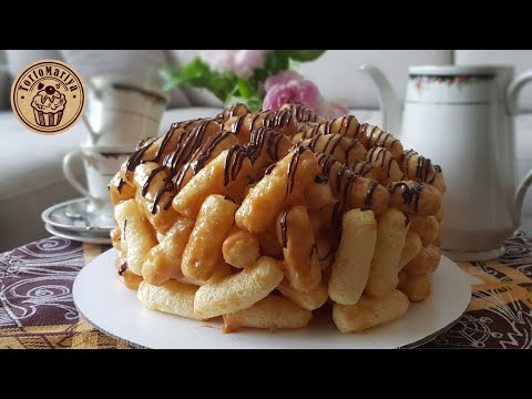 Торт из кукурузных палочек и ирисок