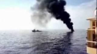 Louisiana - Il petrolio brucia nel Golfo del Messico