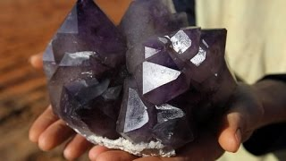 "The Crystal Collector:  ""Amethyst hunt at Diamond Hill Mine, South Carolina"""
