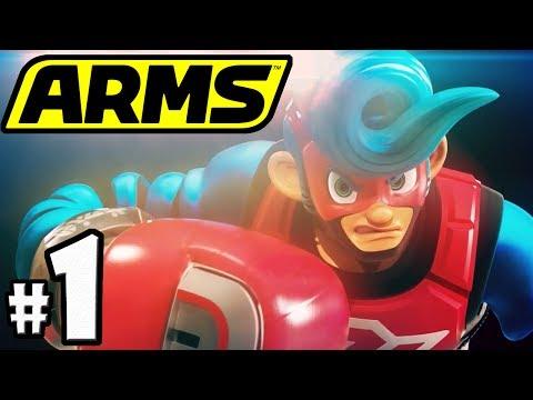 ARMS PART 1 - Nintendo Switch Gameplay Walkthrough - Spring Man VS Max Brass - Grand Prix Boss