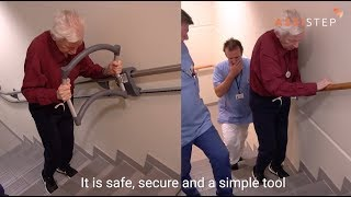 Stair training with the AssiStep stair walker - Greverud nursing home (English)