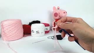 Свинка Пеппа крючком, мастер класс. Peppa pig crochet (Видео урок 2. Ушки, ноги, руки, хвостик)