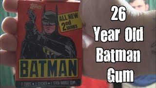 Is It Expired? - 26 Year Old Batman Gum w/ Chuck From The Bronx