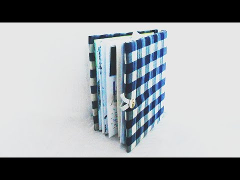 diy-*-fabric-book-cover-*-how-to-decorate-book-cover-*-tutorial