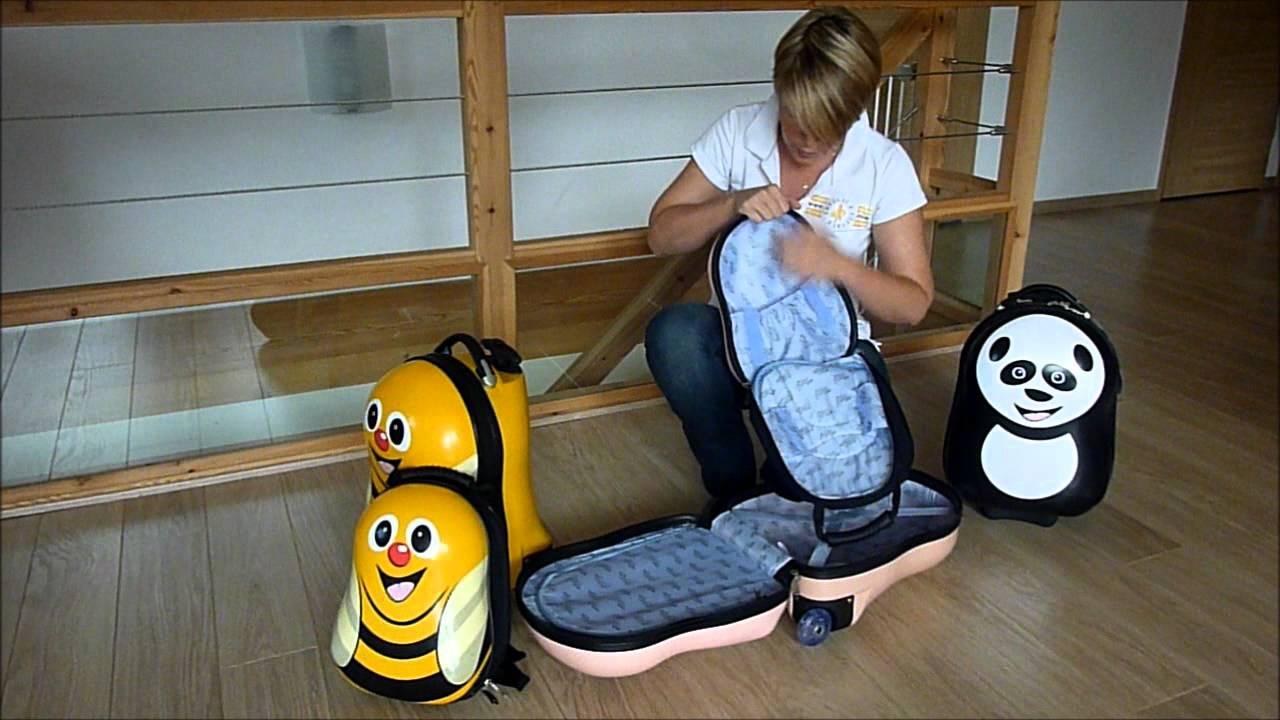 valise roulette pour enfant cuties and pals pr youtube. Black Bedroom Furniture Sets. Home Design Ideas