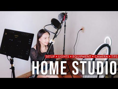 DIY HOME STUDIO Setup + Lights + Equipment + Camera + Tips (Beginner's Guide)