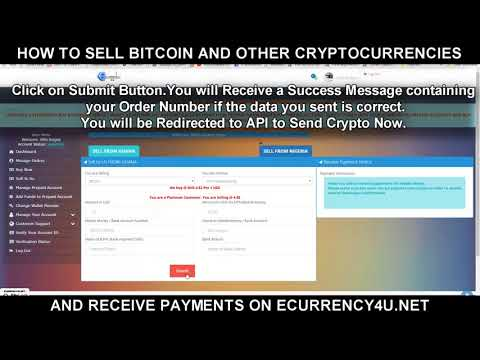 How To Sell Bitcoin & Other Cryptocurrencies For Cash Or Mobile Money @ Ecurrency4u.net