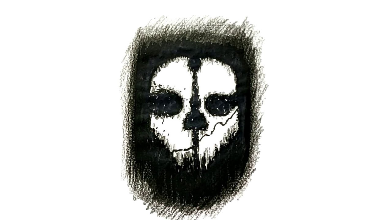 How To Draw The Call Of Duty Ghosts Logo Youtube