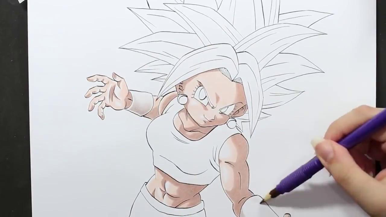 Como Desenhar E Pintar O Drawing Kefla Dragon Ball Super Youtube