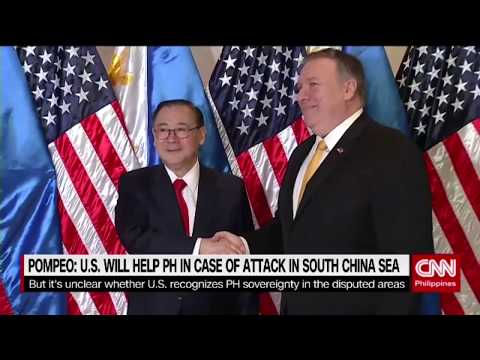 Pompeo: US will help PH in case of attack in South China Sea