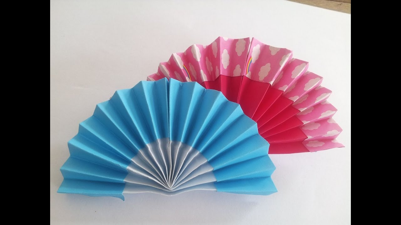 How To Make Hand Fan With Paper Origami