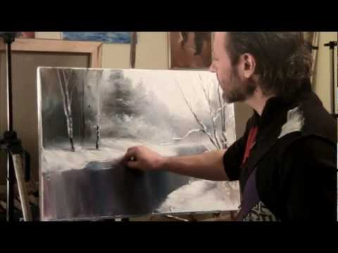 уроки живописи маслом для начинающих бесплатно видео