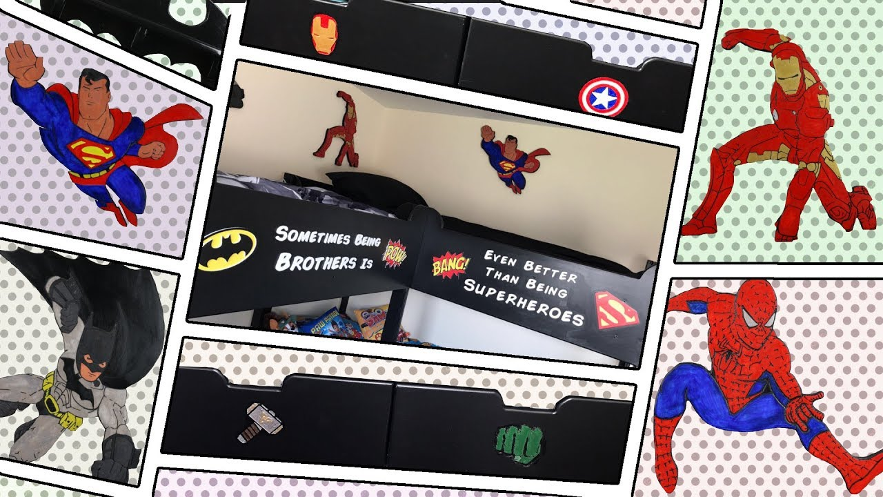Super Hero Quad Bunk Beds From Basic Ikea Bunk Bed Youtube