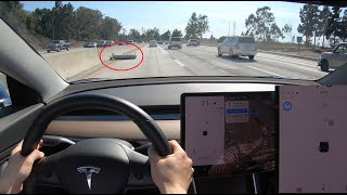 Lane Changes and Road Debris - Tesla Nav on Autopilot w/o confirmation thumbnail