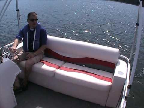 2010 Gill Getter 713 Fish N Cruise Pontoon With Torqeedo 4.0 Cruise VIDEO 1