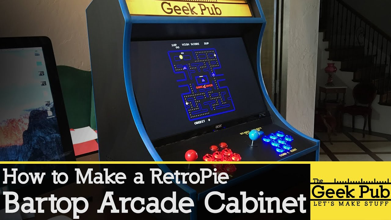 Build a RetroPie Bartop Arcade Cabinet with a Raspberry Pi - YouTube