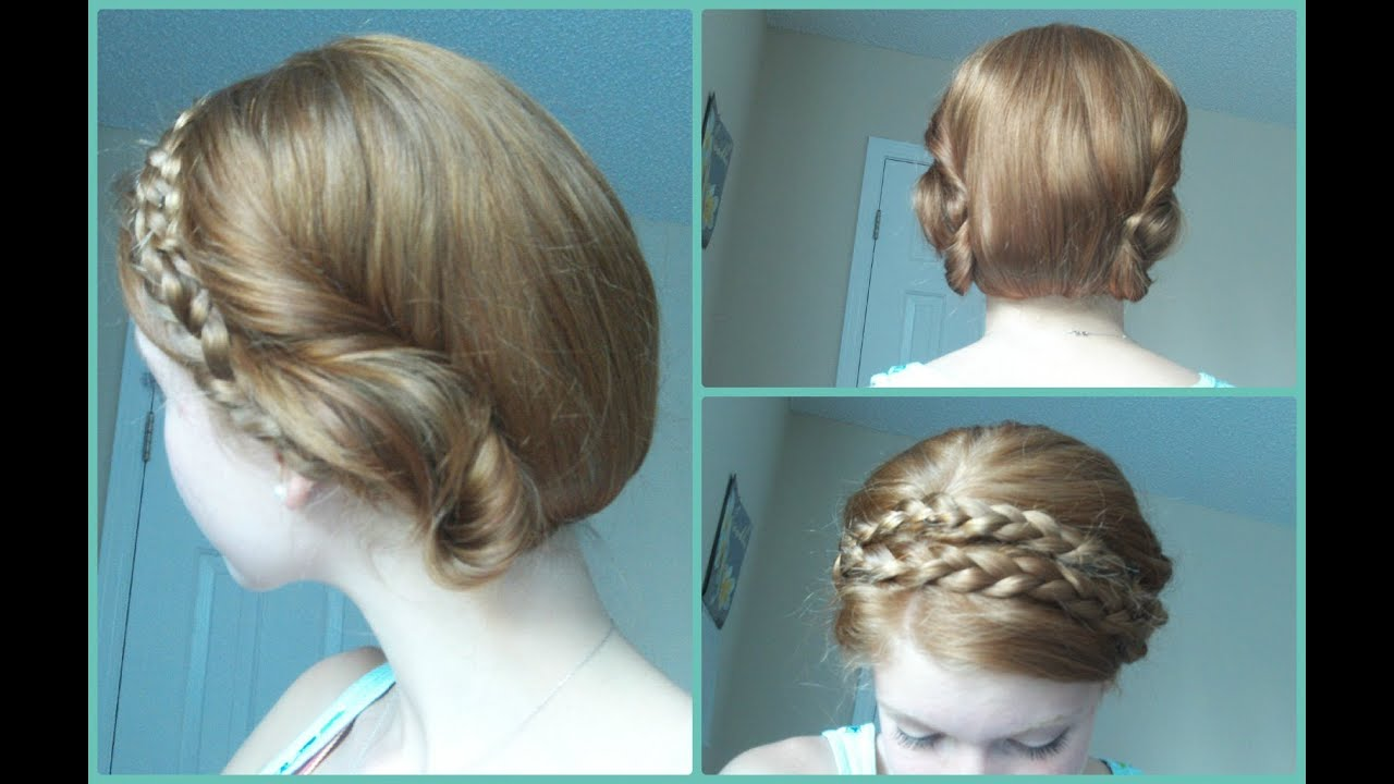 Faux Bob with Thick Braided Headband for Long Hair