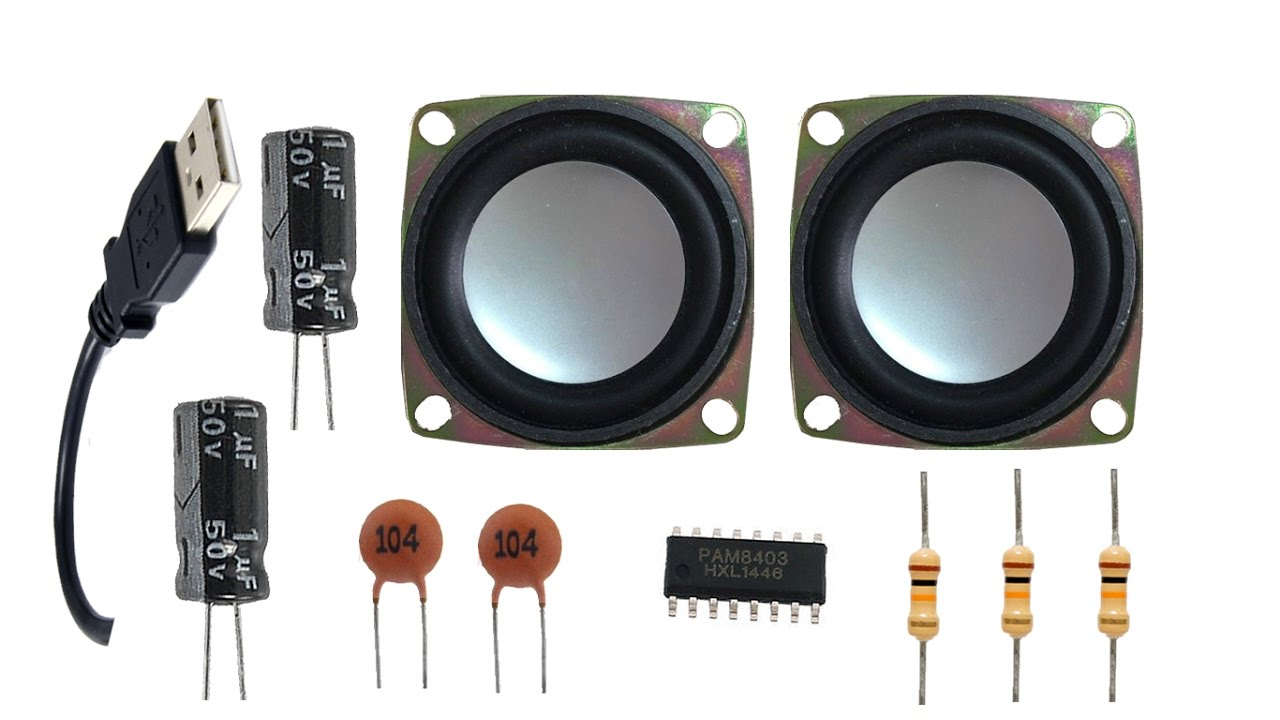 how to make a usb speaker at home (ic 8403) youtube