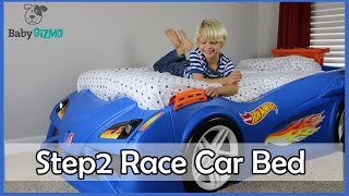 step2 hot wheels toddler to twin race car bed review