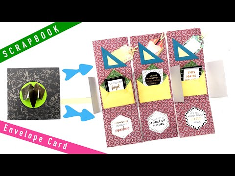 Message Envelope Card - DIY Tutorial by Paper Folds - 997
