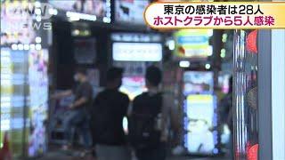 東京で28人の感染確認 うち5人ホストクラブ関係者(20/06/05)