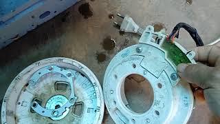 Cách thay motor dây curoa vào máy giặt Sanyo inverter 9kg dùng bo ₫a năng New 2200