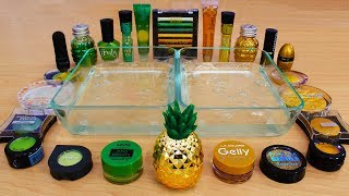 Green vs Gold Mixing Makeup Eyeshadow Into Slime Special Series 84 Satisfying Slime Video