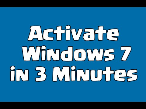 Windows 7 Activation (Genuine, Updatable & Online Verification) from YouTube · Duration:  2 minutes 33 seconds  · 327,000+ views · uploaded on 3/22/2014 · uploaded by Saifee Mir
