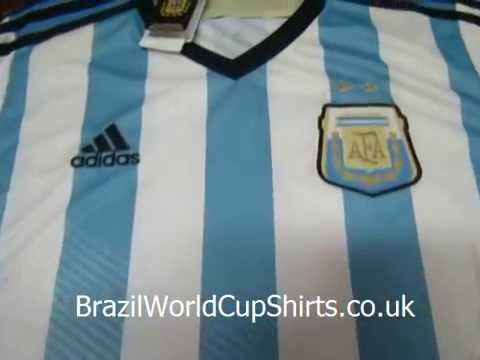 2014 World Cup Argentina Home Thailand Quality Soccer Jersey
