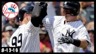 Back to Back Debut Bombs! Tyler Austin & Aaron Judge Highlights vs. Rays (8-13-16)