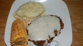 Cube Steak Recipe - Country Fried Steak and Cream Gravy