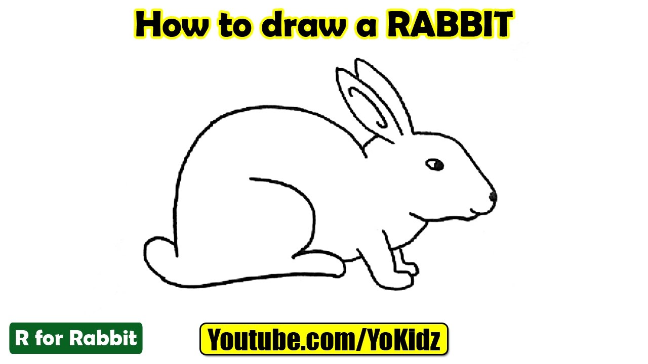 How to draw a RABBIT - YouTube