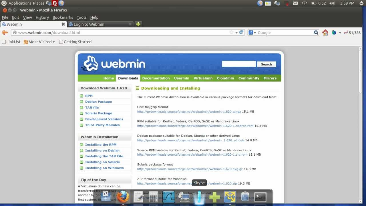 webmin pour windows