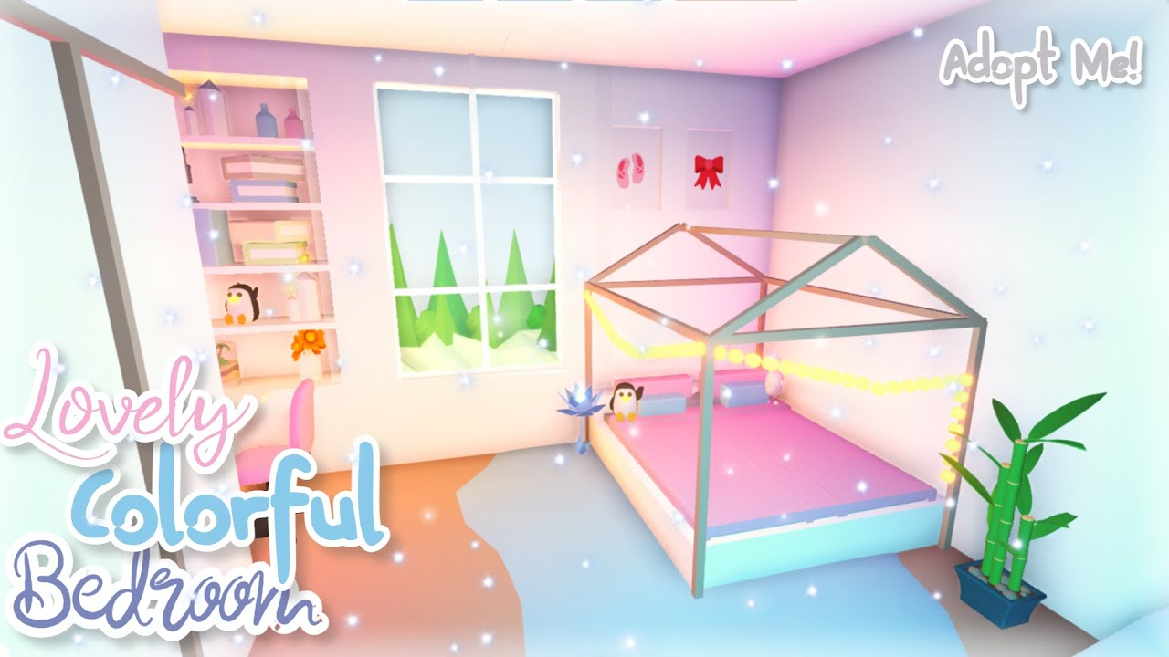 In this video i'll show you new adopt me speed build sweet aesthetic bedroom inspired by real kids. Lovely Colorful Bedroom Adopt Me Speed Build Roblox Youtube