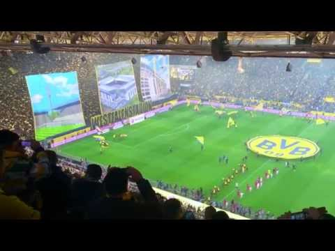 BVB Choreo - Dortmund vs Bayern 04.04.2015 mit Faltin Travel